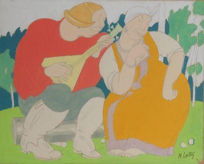 Mikhaïl LATTRY  (Odessa 1875 1941 Paris)...