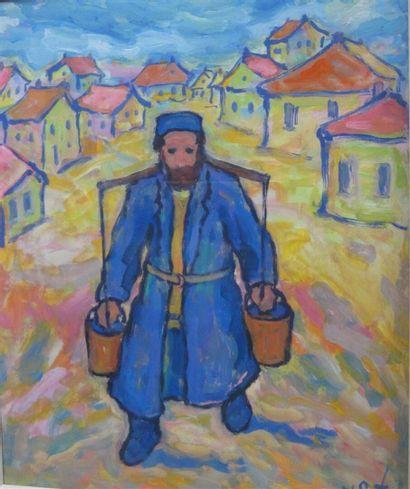 Nathan GUTMAN (Katowice 1927-1990)  Porteur...