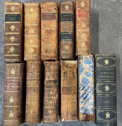 Lot d'Almanach royaux, nationaux et impériaux....