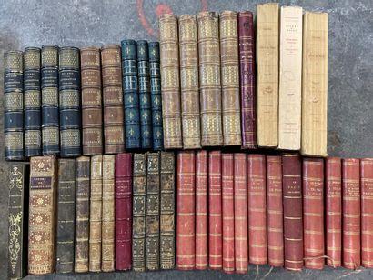 Caisses de livres reliés XVIII°, XIX° et...