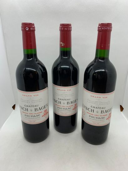 3 bouteilles de Château Lynch-Bages Grand...