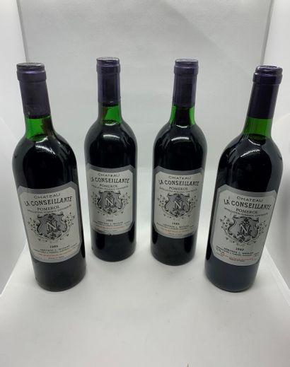 4 bouteilles de Château LA CONSEILLANTE Pomerol,...