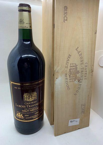 1 magnum de Château LAROSE-TRINTAUDON Cru Bourgeois Haut-Médoc 1998 dans sa caisse...