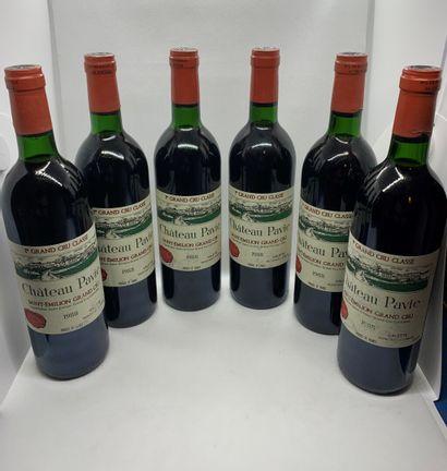 12 bouteilles de Château PAVIE, 1er Grand...