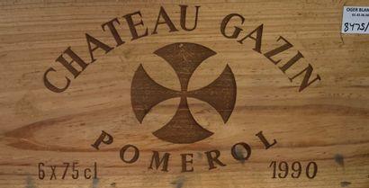 4 bouteilles de Château GAZIN Pomerol 1990