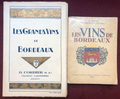 (BORDEAUX.) 2 volumes brochés : CORDIER,...