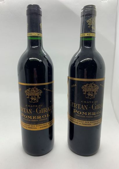 2 bouteilles de Château CERTAN-GIRAUD Pomerol...
