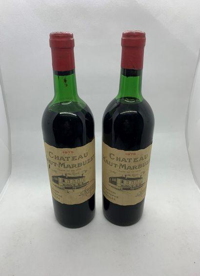 2 bouteilles de Château HAUT-MARBUZET Saint-Estèphe...