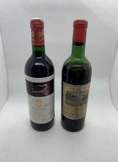 2 bouteilles dont 1 Château MOUTON-ROTHSCHILD...