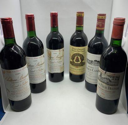 12 bouteilles dont 3 Château BRANAIRE-DUCRU...