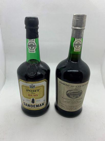 2 bouteilles dont 1 de Porto 10 ans d'âge...