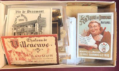 3 cartons d'étiquettes en vrac de toutes...