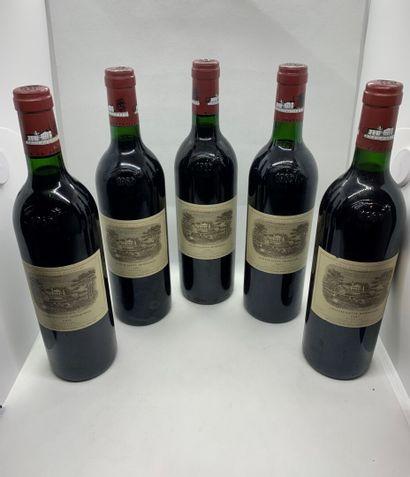 5 bouteilles de Château LAFITE ROTHSCHILD...