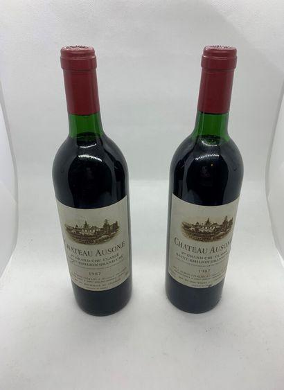 2 bouteilles de Château AUSONE, 1er Grand...