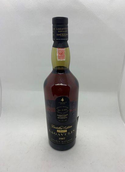 1 bouteille de LAGAVULIN 1987 DOUBLE MATURED...