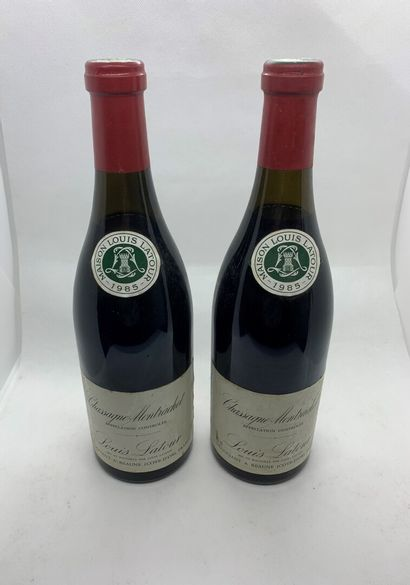 2 bouteilles de CHASSAGNE-MONTRACHET rouge...
