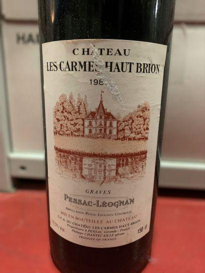 1 magnum de Château LES CARMES HAUT-BRION Pessac-Léognan 1986, très légèrement bas,...