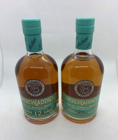 2 bouteilles de BRUICHLADDICH ISLAY SINGLE...