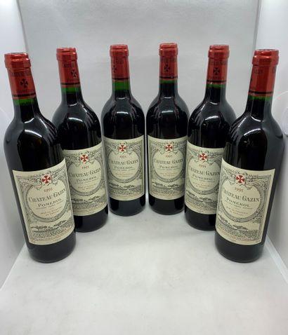 12 bouteilles de Château GAZIN Pomerol 1995...