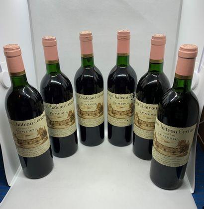 12 bouteilles de Château VIEUX CHÂTEAU CERTAN...