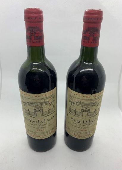 2 bouteilles de Château LA LAGUNE 3ème Grand...