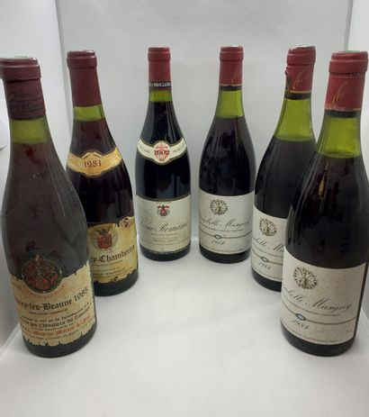 6 bouteilles dont 3 CHAMBOLLE-MUSIGNY 1984...
