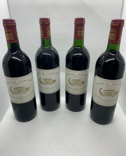 4 bouteilles de Château MARGAUX, Premier...