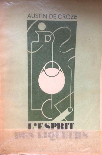 (LIQUEURS.) 1 volume broché : CROZE, Augustin...