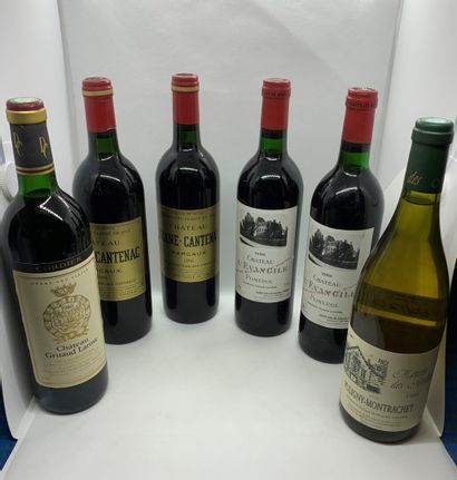 12 bouteilles dont 3 Château BRANAIRE-DUCRU Grand Cru Classé en 1855, Saint-Julien...