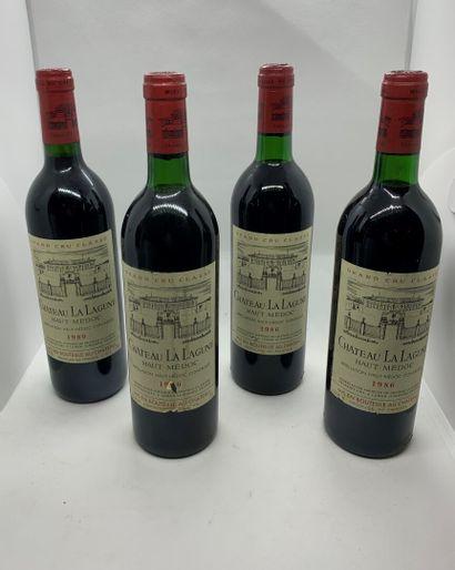 4 bouteilles de Château LA LAGUNE, Grand...