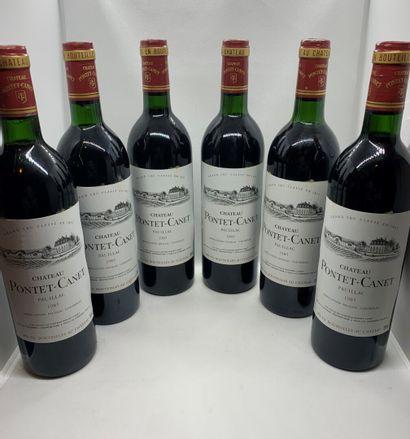 12 bouteilles de Château PONTET-CANET, Grand...