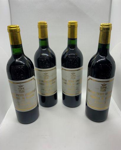 4 bouteilles de Château PICHON LONGUEVILLE COMTESSE DE LALANDE Grand Cru Classé...