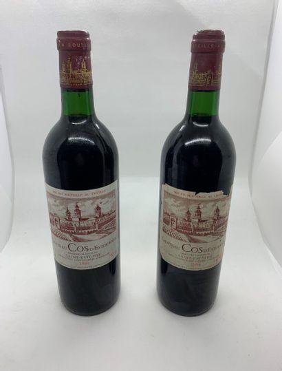 2 bouteilles de Château COS D'ESTOURNEL,...