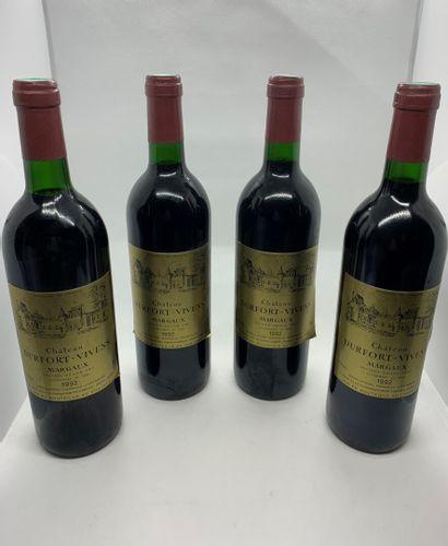 4 bouteilles de Château DUFORT-VIVENS, Second...