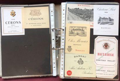2 albums d'environ 1800 étiquettes de vin...