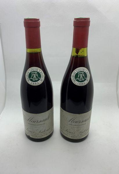 2 bouteilles de MEURSAULT 1983 de Louis Latour,...