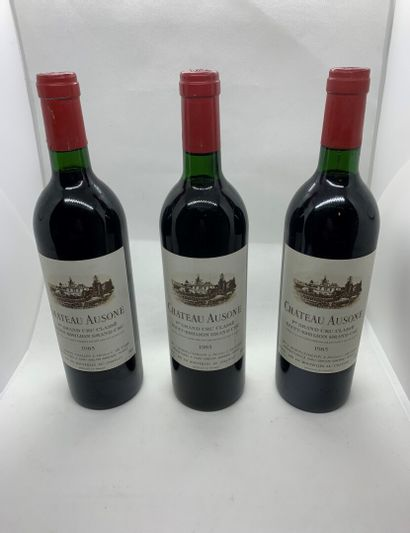 3 bouteilles de Château AUSONE, 1er Grand...