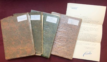 (NICOLAS, Établissements.) 4 volumes brochés...