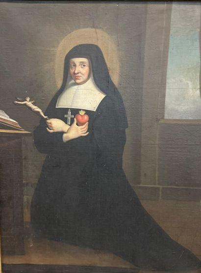 LASSON XIX-XXe siècle  Portrait d'Abbesse...