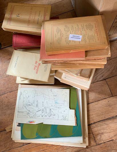 Lot de livres reliés et brochés.