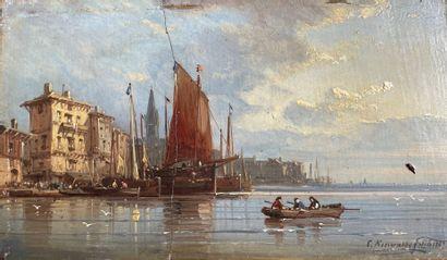 Karl Josef KUWASSEG (1802-1877) Marine Huile...
