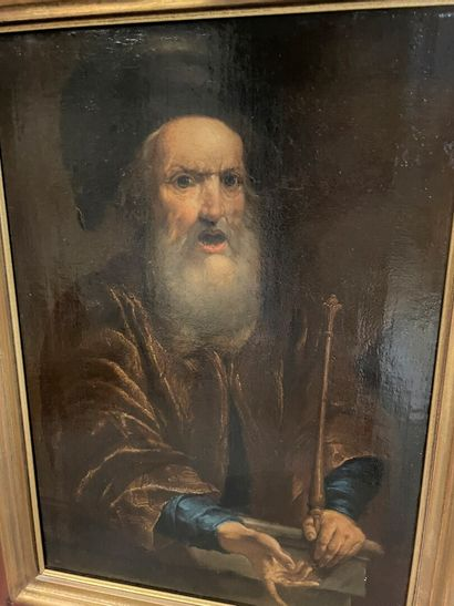 Ecole hollandaise du XIXème siècle  Rabbin...
