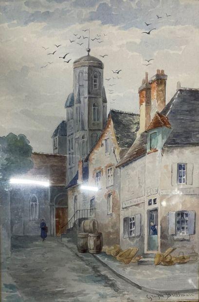 Eugénie GRUYER-BRIELMAN (1858-?)  Rue de...