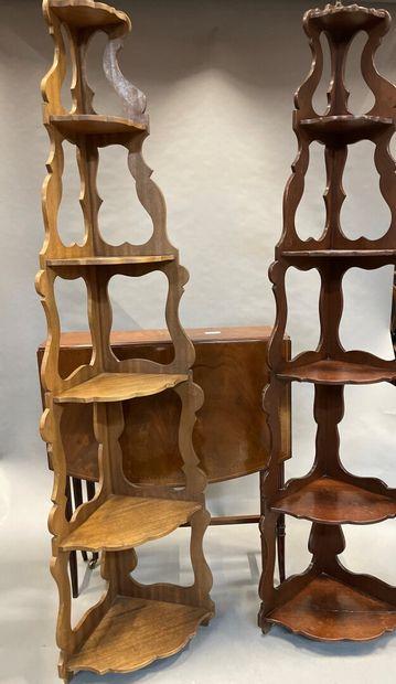 Lot de petit mobilier en acajou et bois teinté...