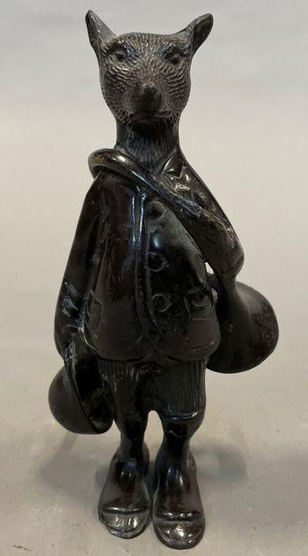 Le Renard chasseur  Bronze d'édition  H....
