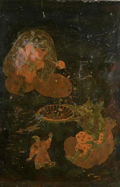 JAPON - Epoque MEIJI (1868 - 1912) Panneau...