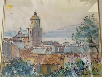 Vincent BRETON (1919)  Vue de Saint Tropez...