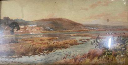 William MATHISON (1825-1893) Paysage de...