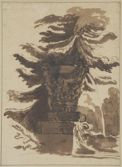 Ecole FRANCAISE du XIXème siècle  Etude d'arbre...