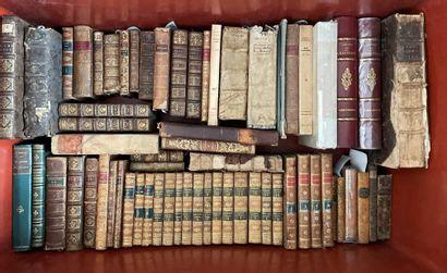 Caisse de livres reliés XVIII° et XIX° siècle...